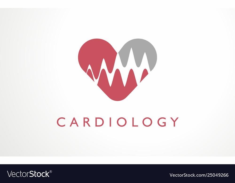 Cardiology clinic heart logo hospital red medicine