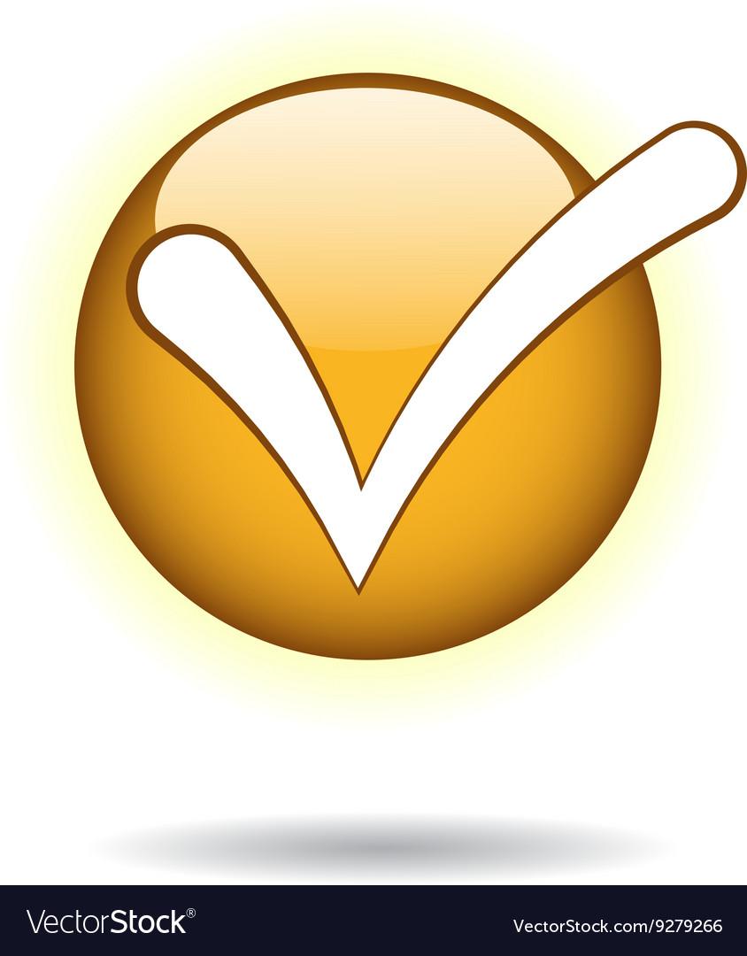 Check mark icon Flat design style