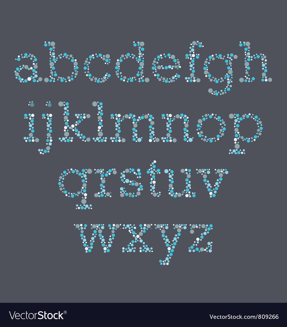 Colorblind Letters vector image