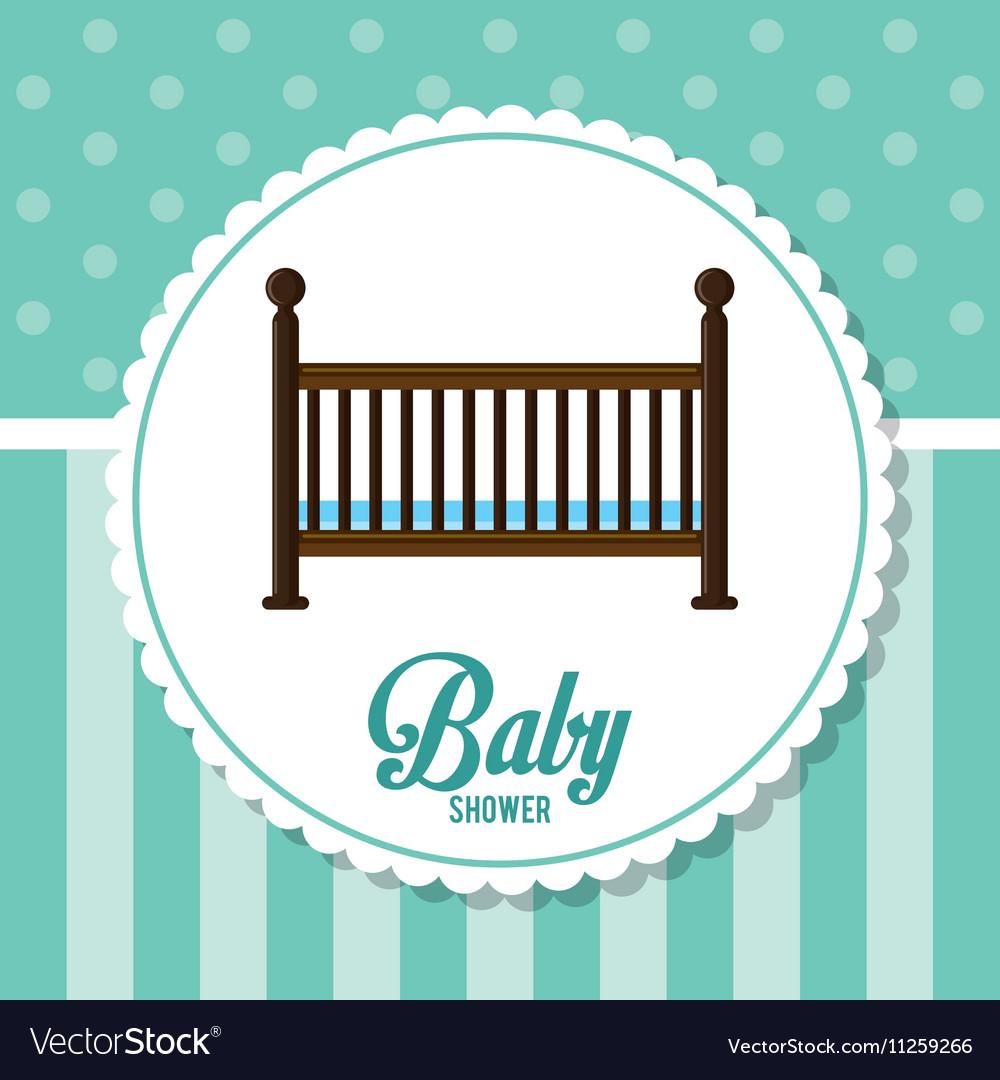 Cradle of baby shower card design
