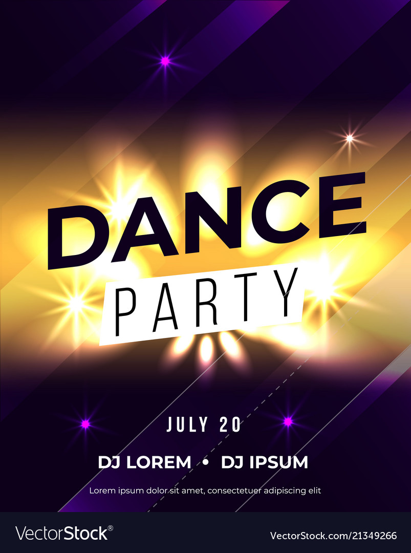 Dance party poster background template
