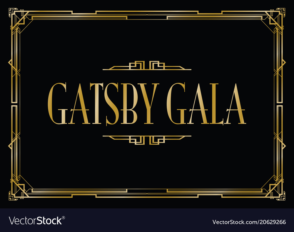 Great gatsby gala background royalty free vector image great gatsby gala background vector image stopboris Gallery