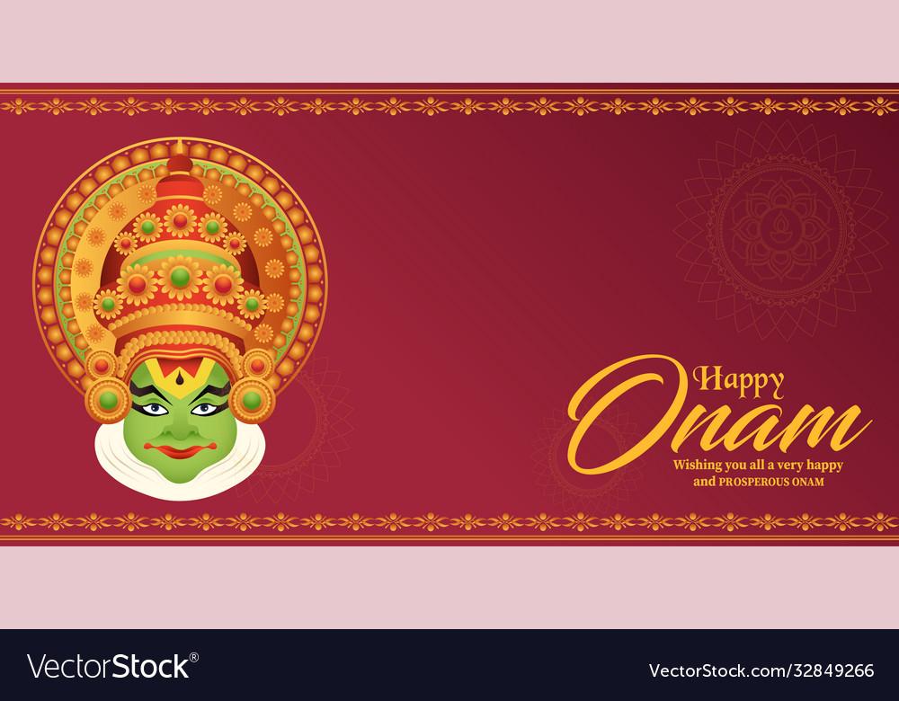 Happy onam festival south india-kerala
