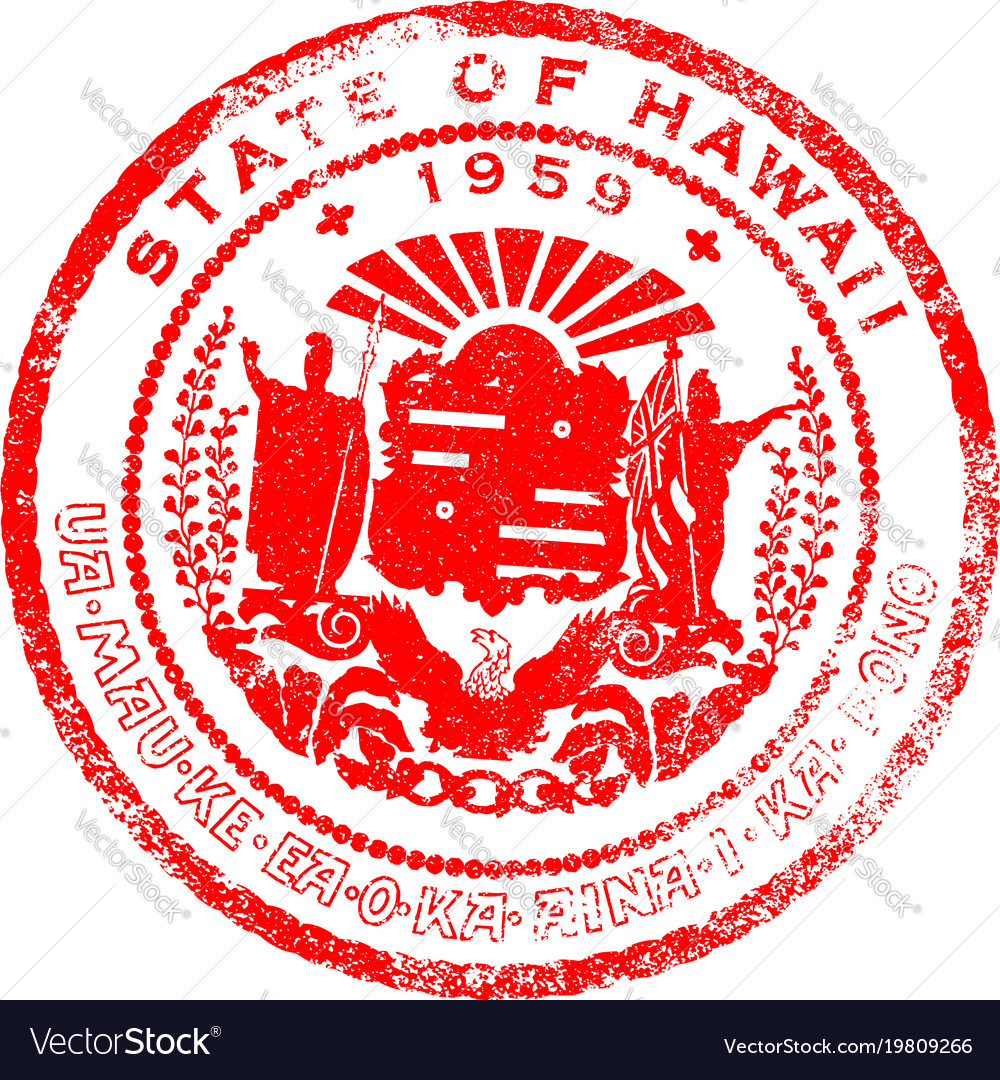 Hawaii Seal Stamp Vector Image