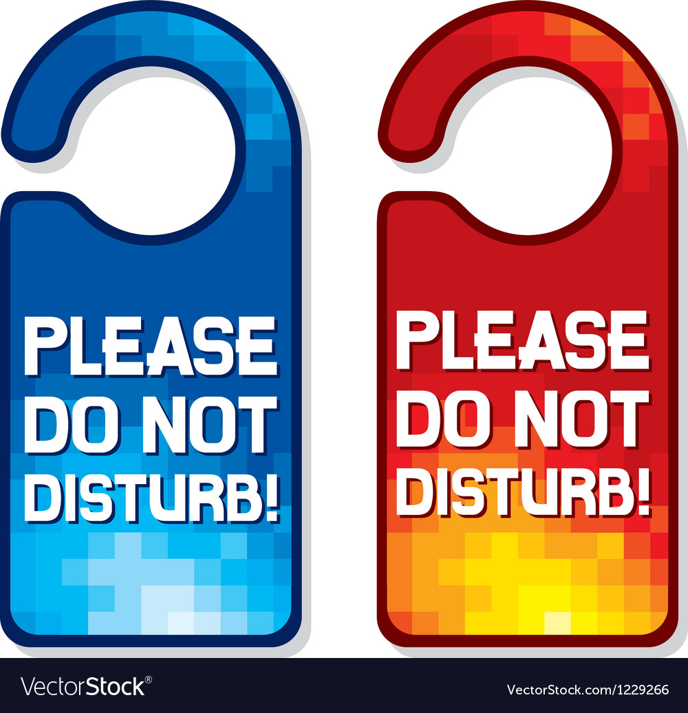 please do not disturb sign set royalty free vector image