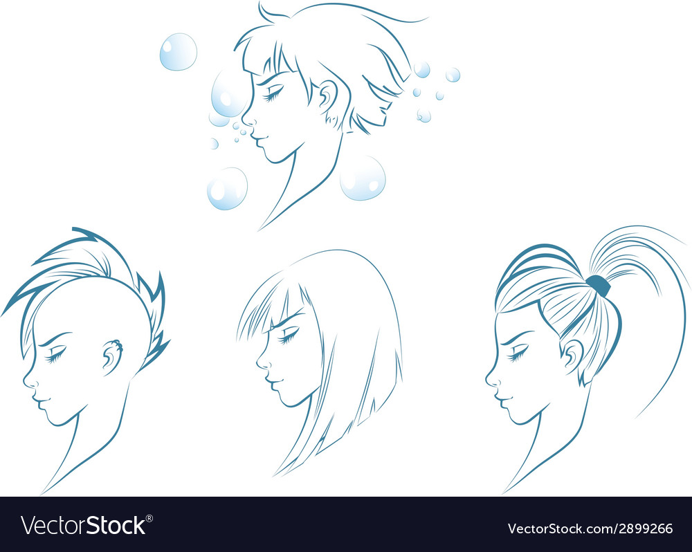 Side View of Stylized Woman
