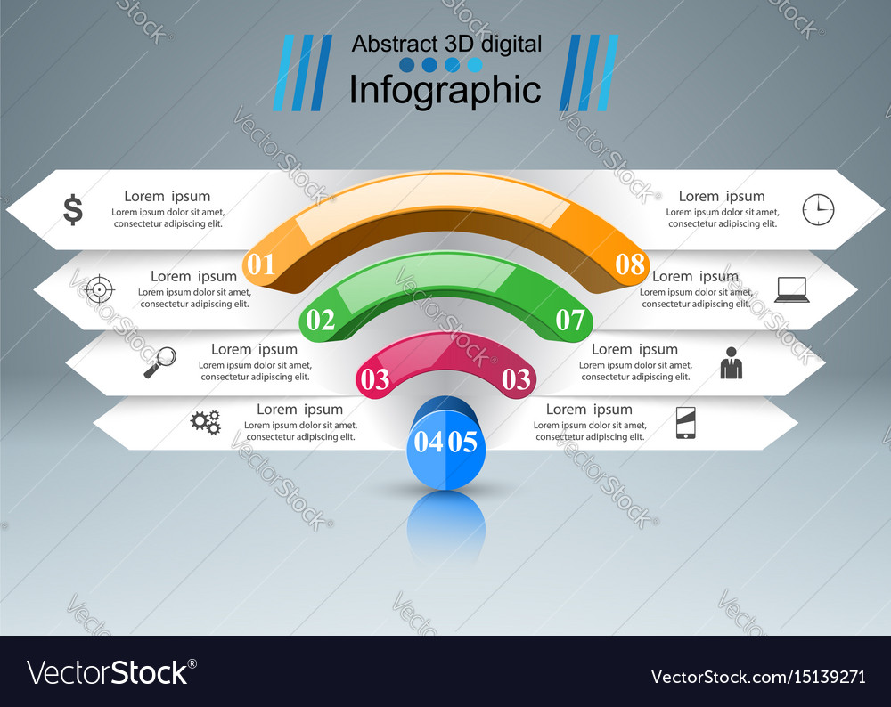 Business infographics wi-fi icon