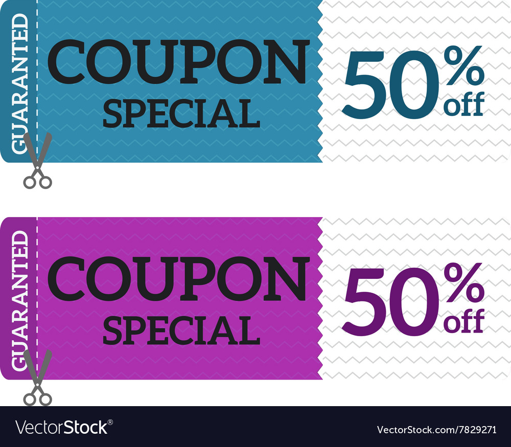 Gift Voucher Coupon certificate template vector image
