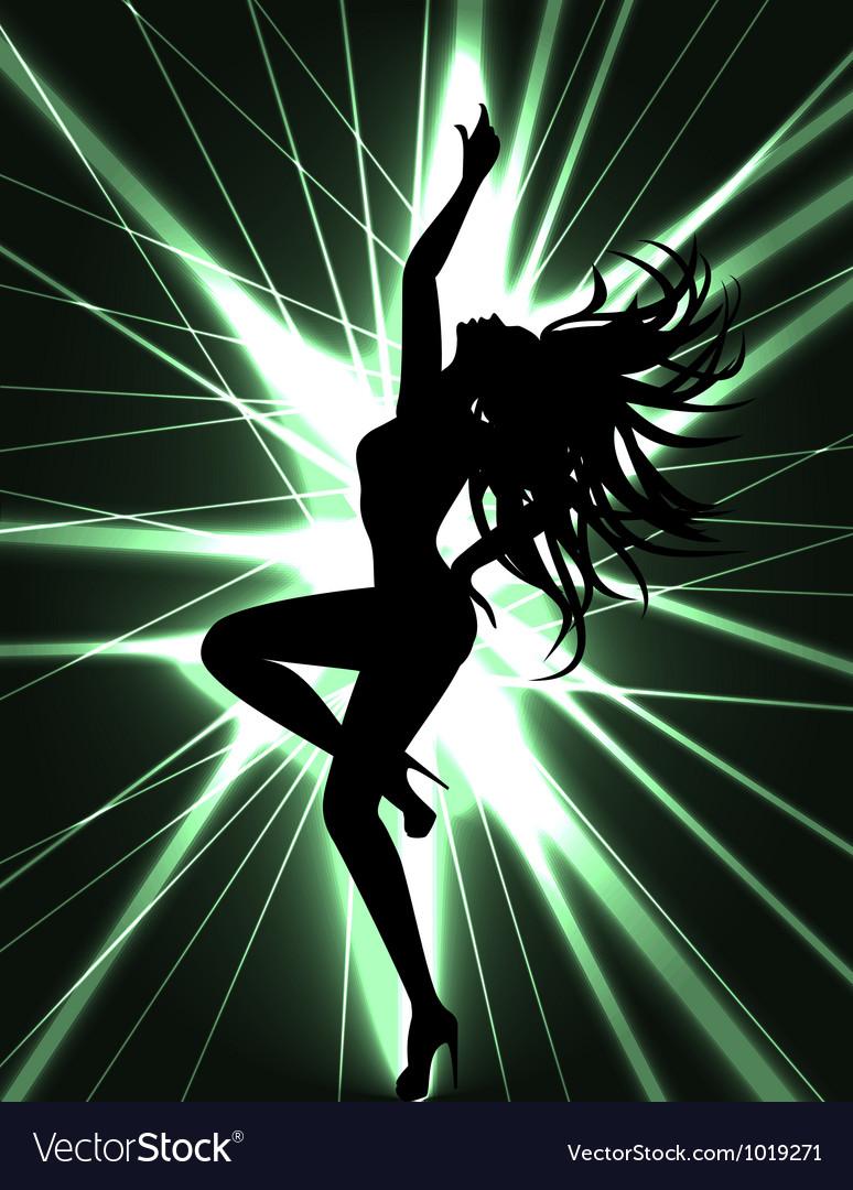 Go go dancer and laser show