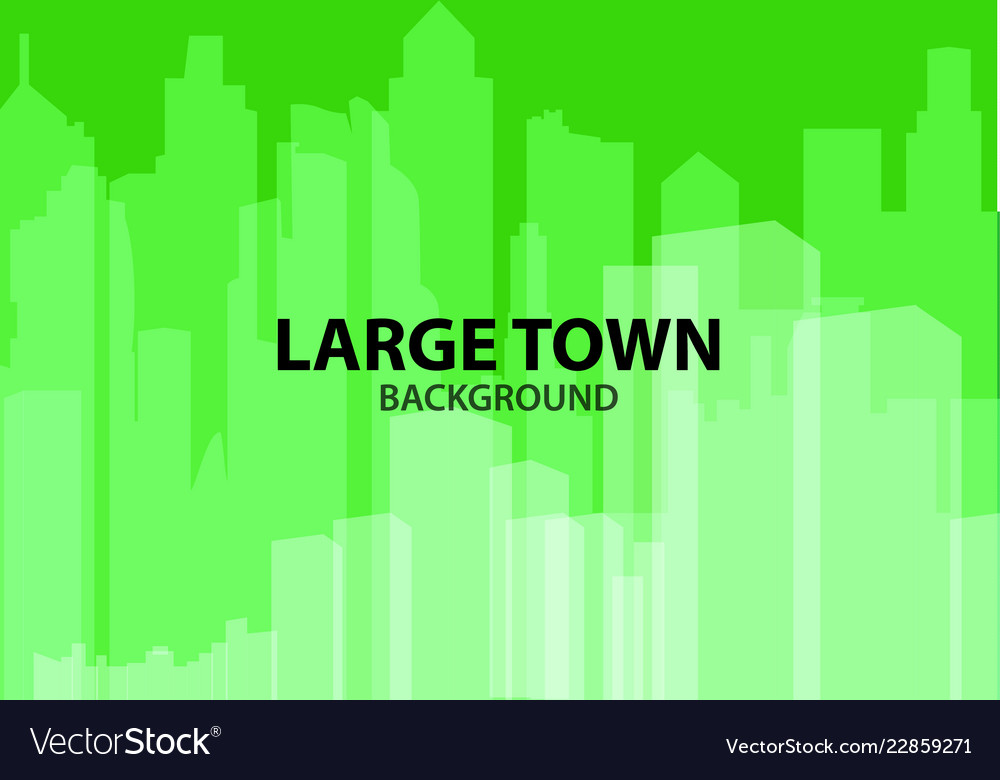 Green background for poster large town or design