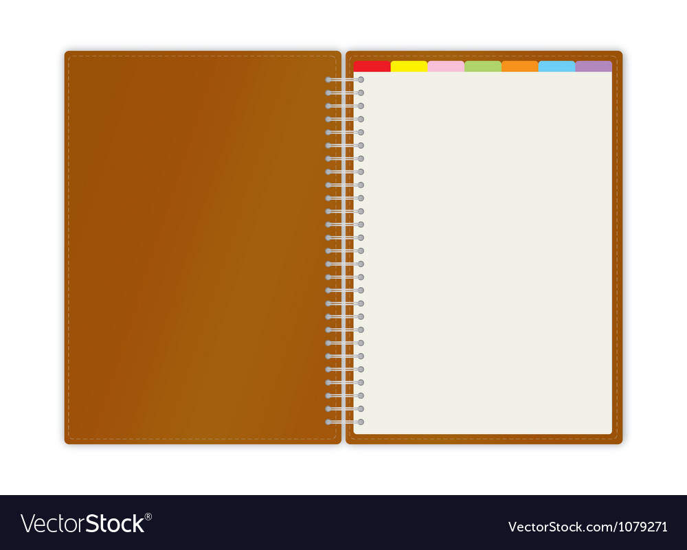 weekly business planner book royalty free vector image
