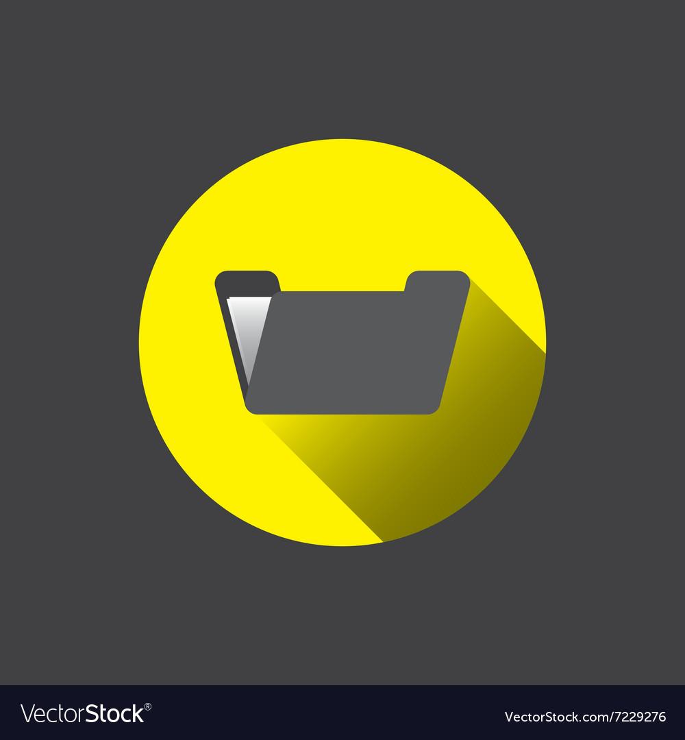 0210y flat folder icon vector image