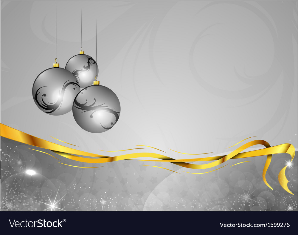 Christmas background two color silver gifts balls