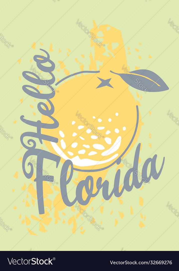 Florida t-shirt design with orange