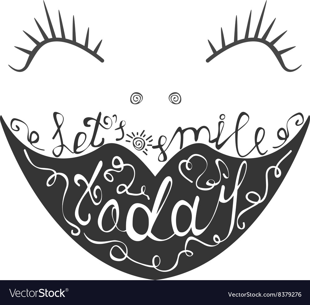 Funny Postcard with a smile Let us smile today vector image