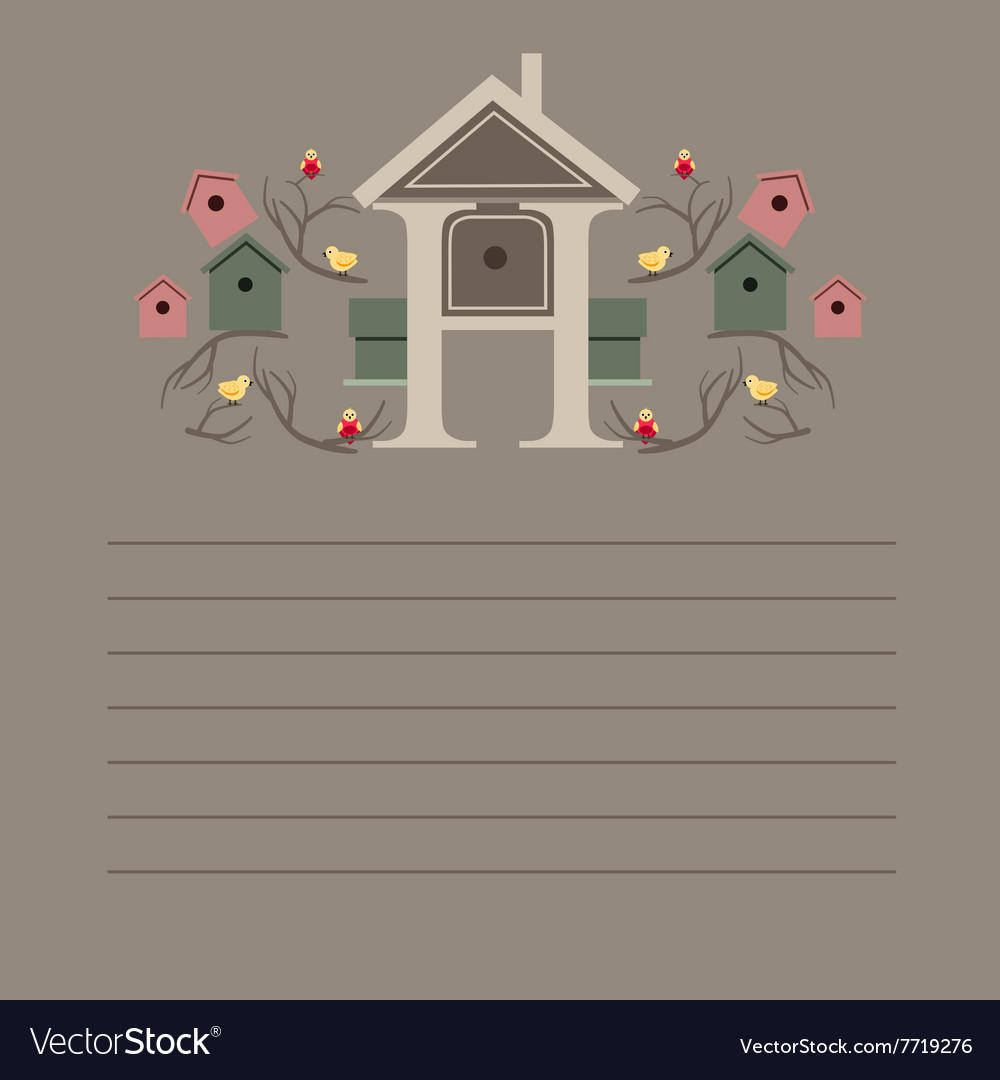 Greeting card with nesting boxes