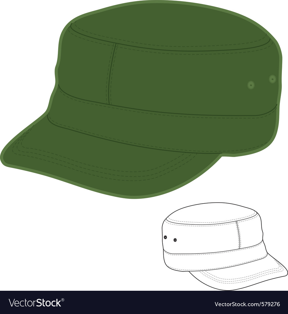 Military style cap vector image