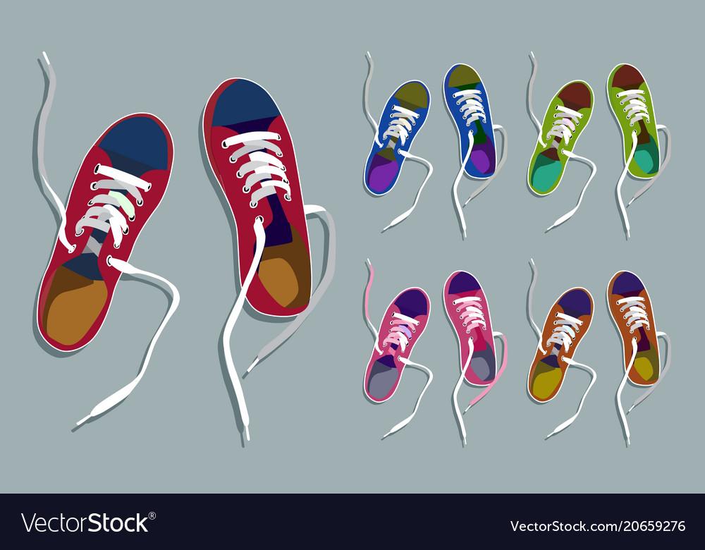 Sneakers drawing set