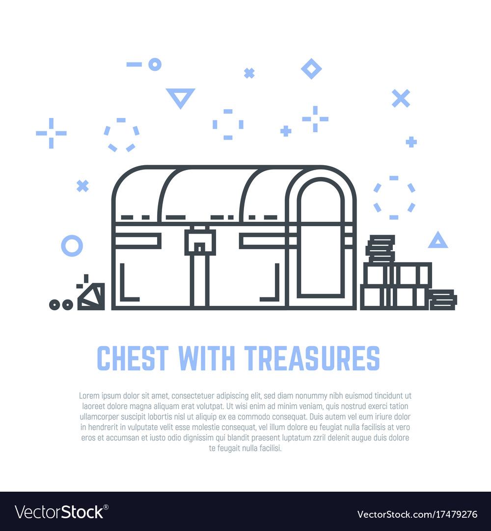 Treasure chest line