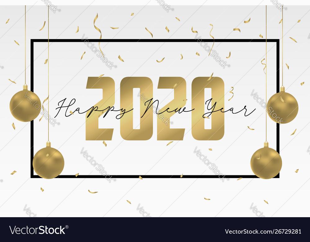 2020 happy new year greeting card design holidays