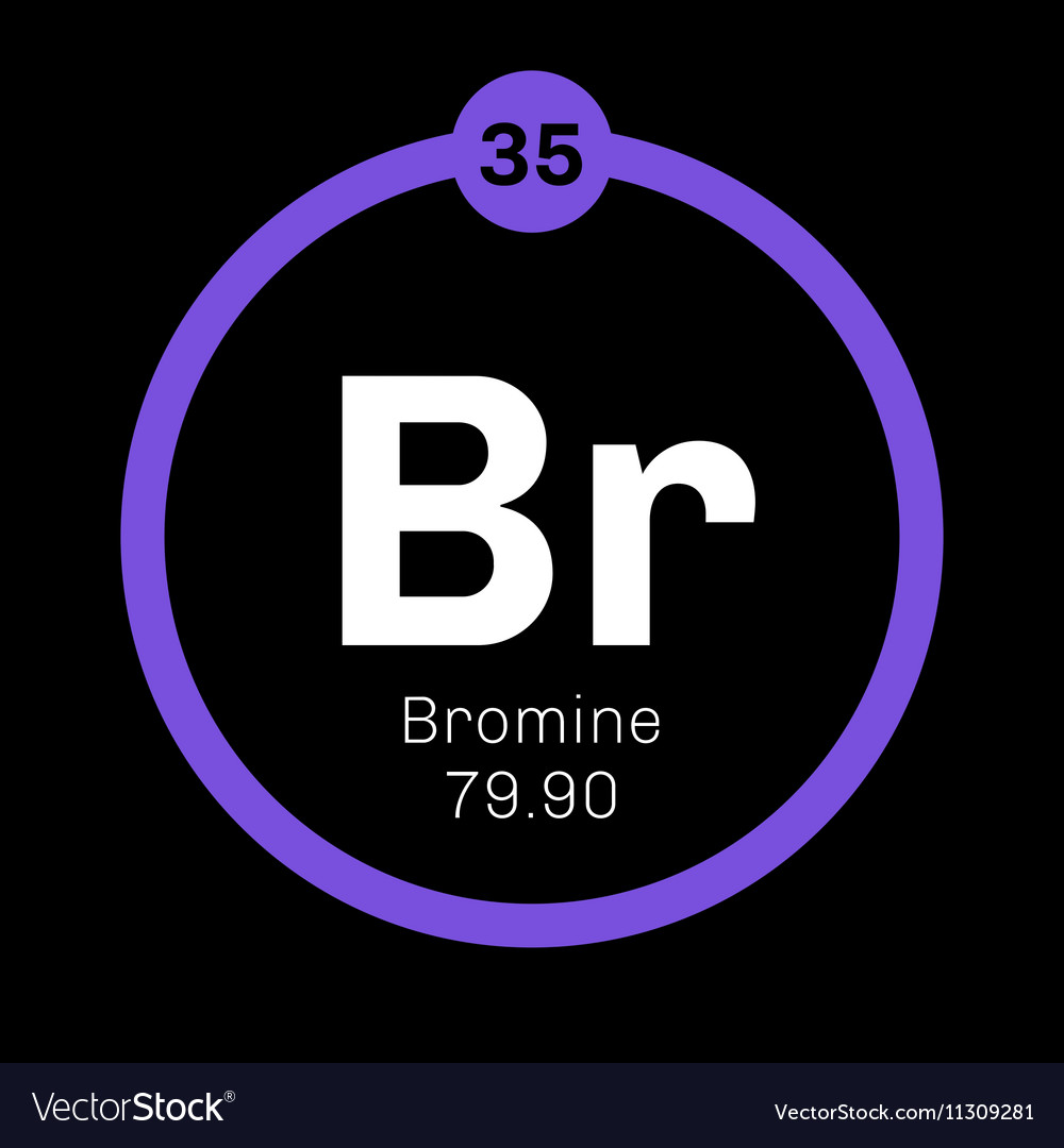 bromine chemical element royalty free vector image