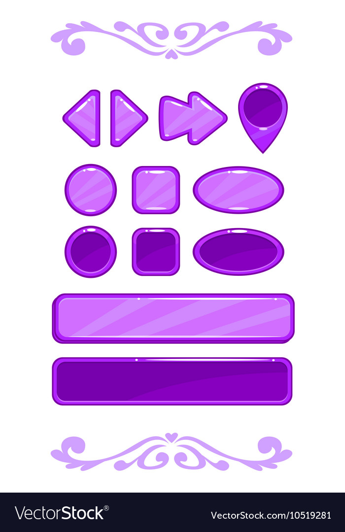 Cute violet game user interface