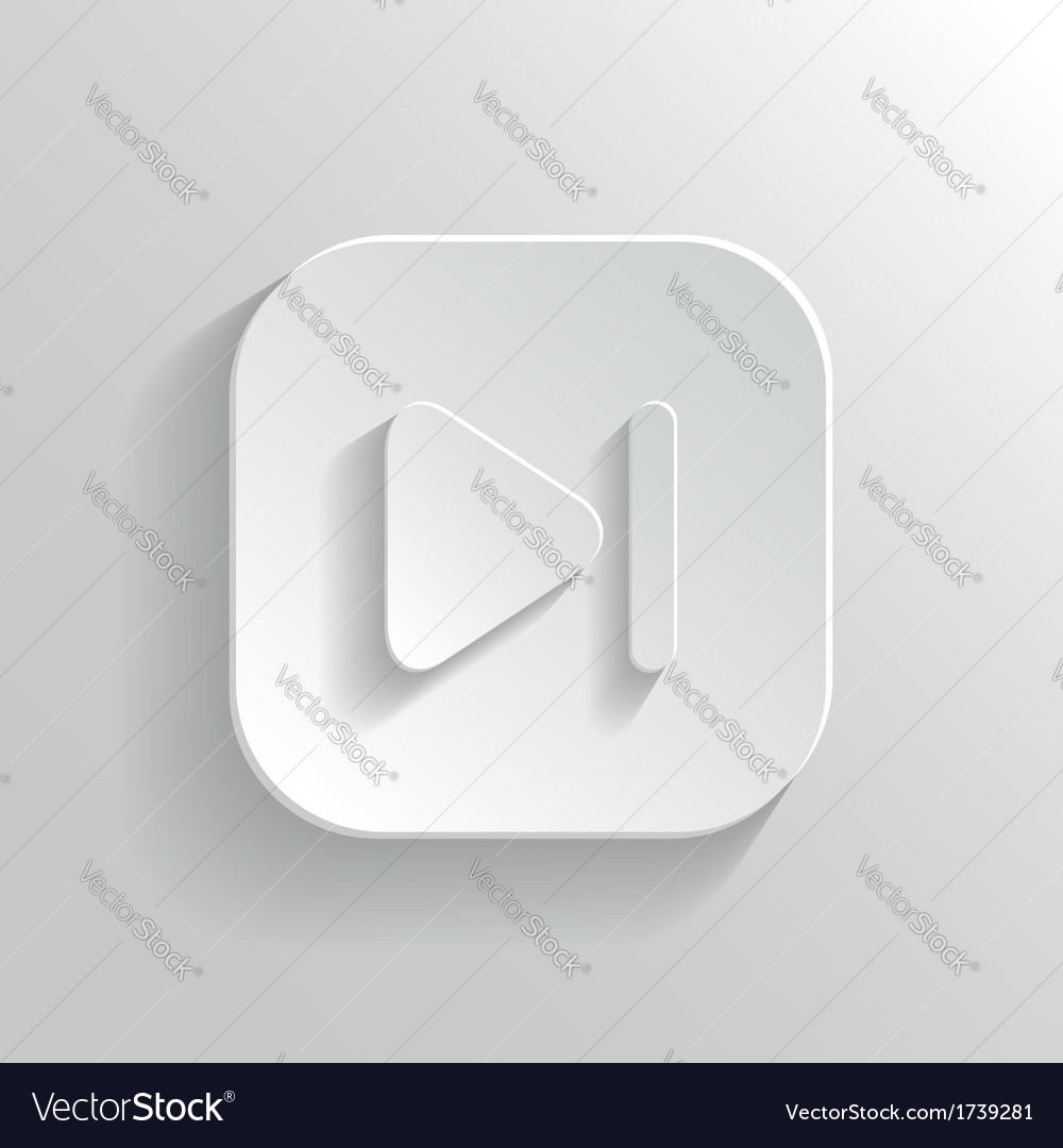 Media player icon - white app button