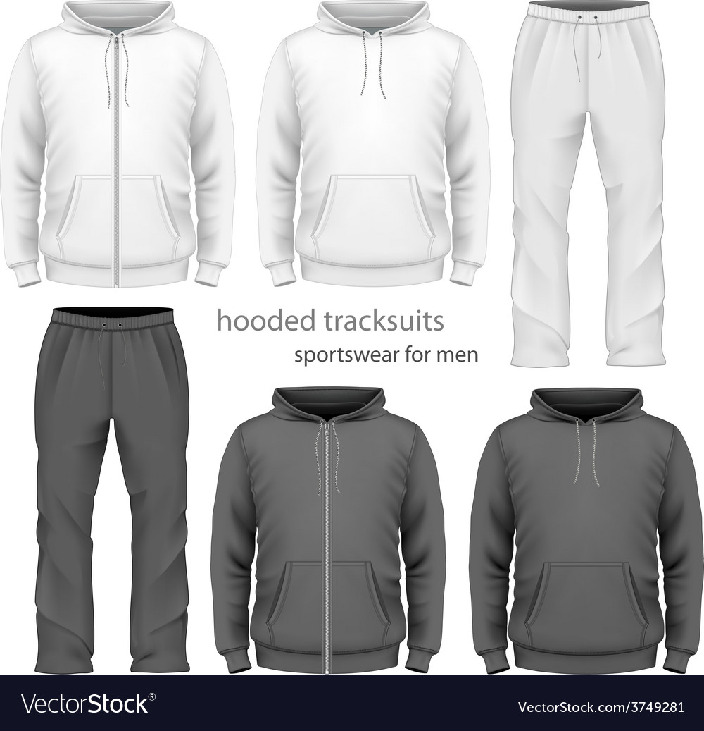 Men hooded tracksuit