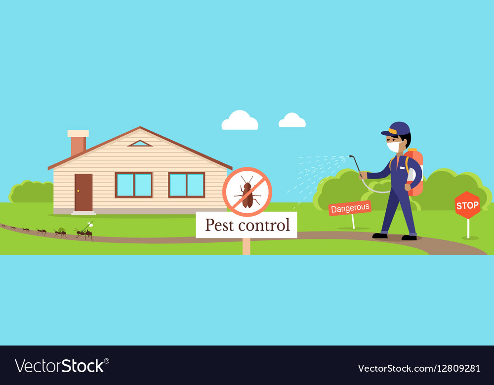 Pest Control Banner Royalty Free Vector Image - VectorStock