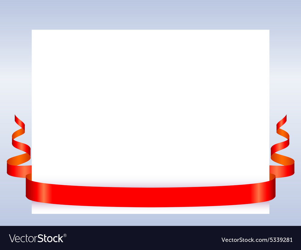 Red ribbon with paper