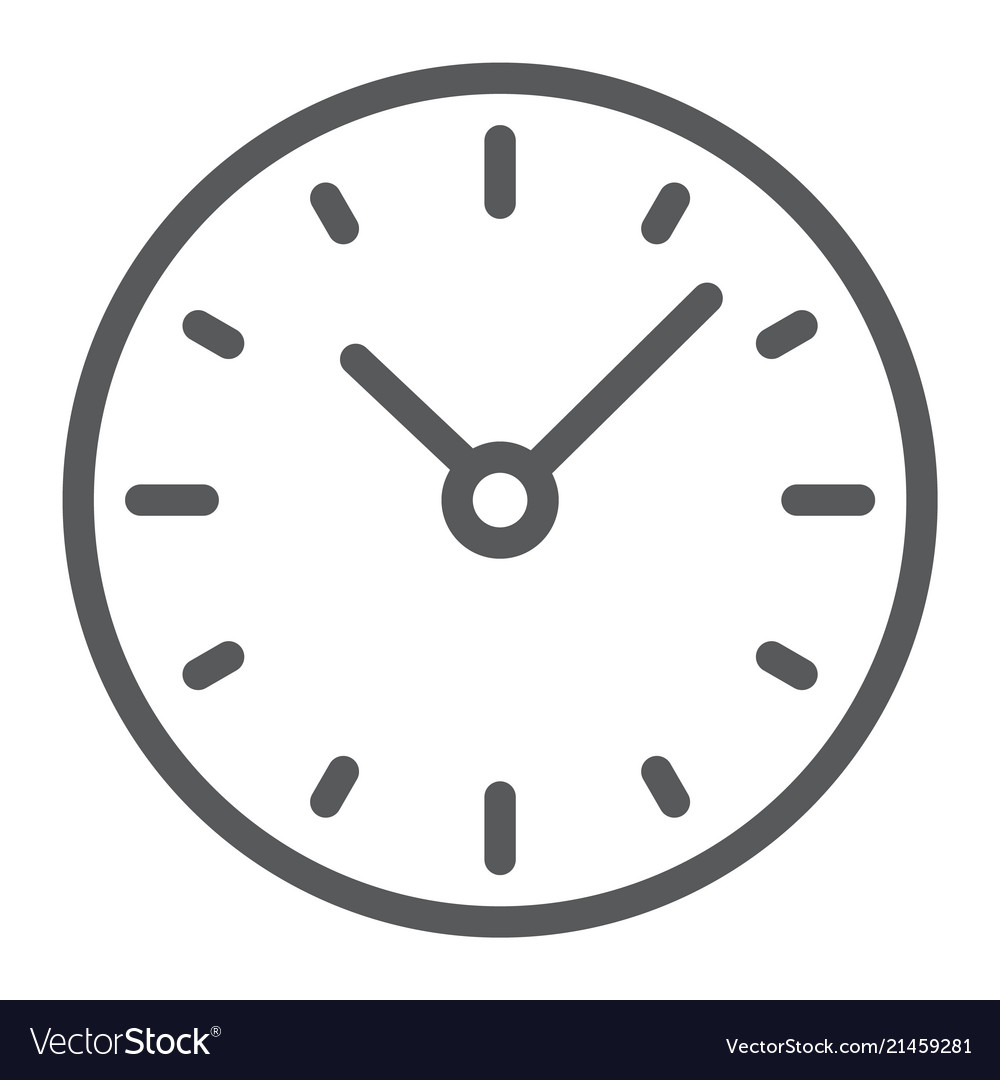 Time line icon clock and minute hour sign
