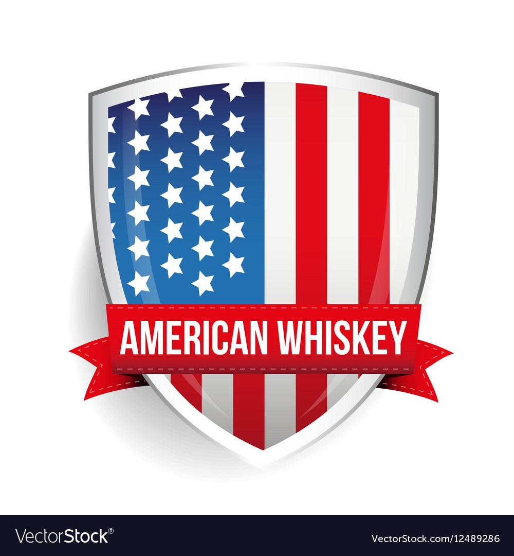 American Whiskey ribbon on USA flag