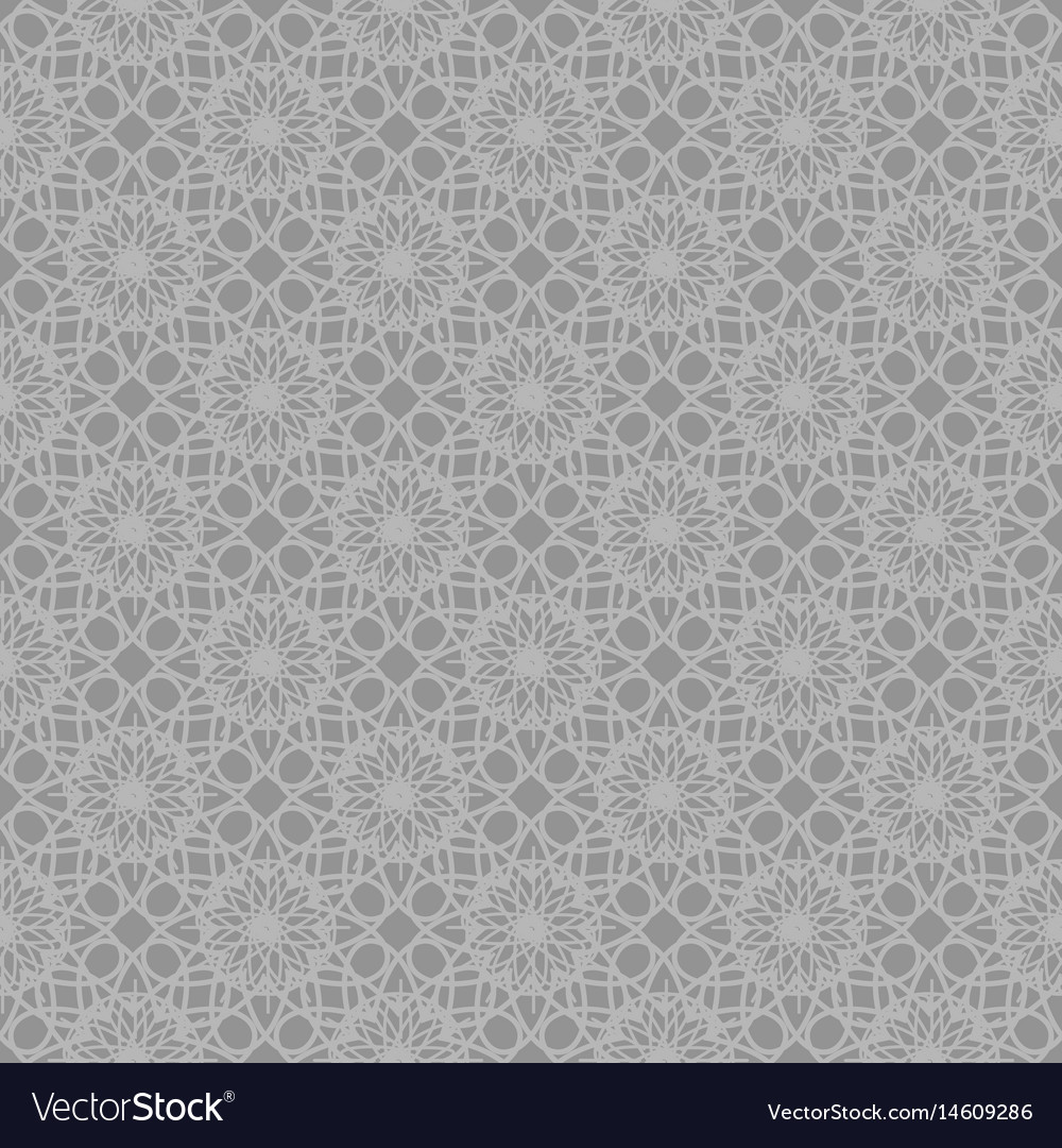 Gray abstract ornamental repeating pattern