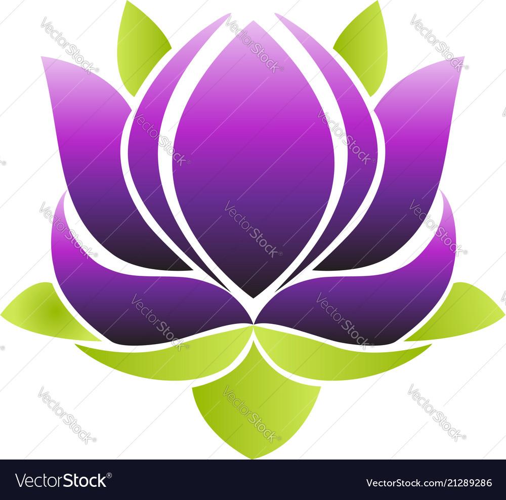 Purple Lotus Flower Icon Royalty Free Vector Image
