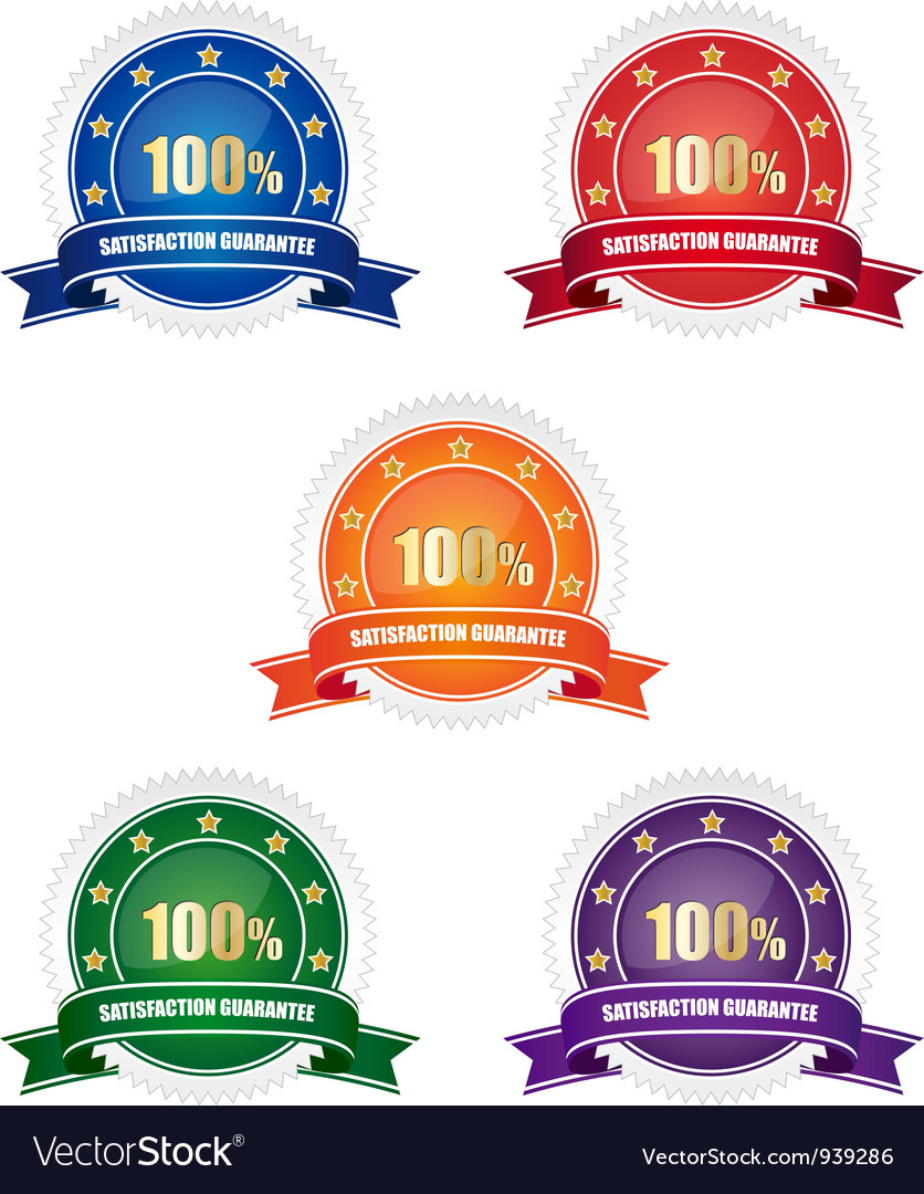 Satisfaction guarantee badges