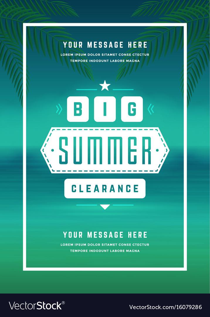Summer sale banner online shopping on beach