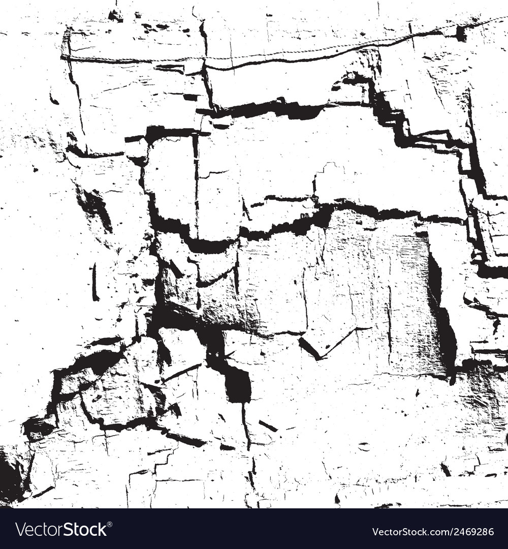 White Damaged Wall vector image