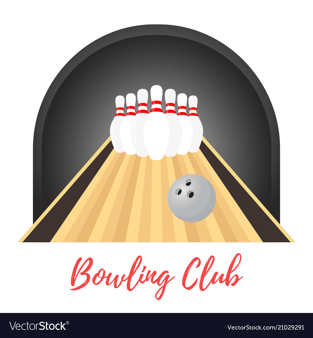 Ad poster banner of bowling skittlesball vector image