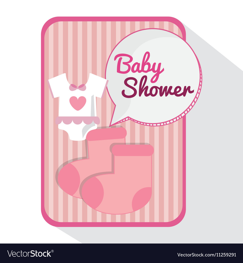 Baby cloth of baby shower card design
