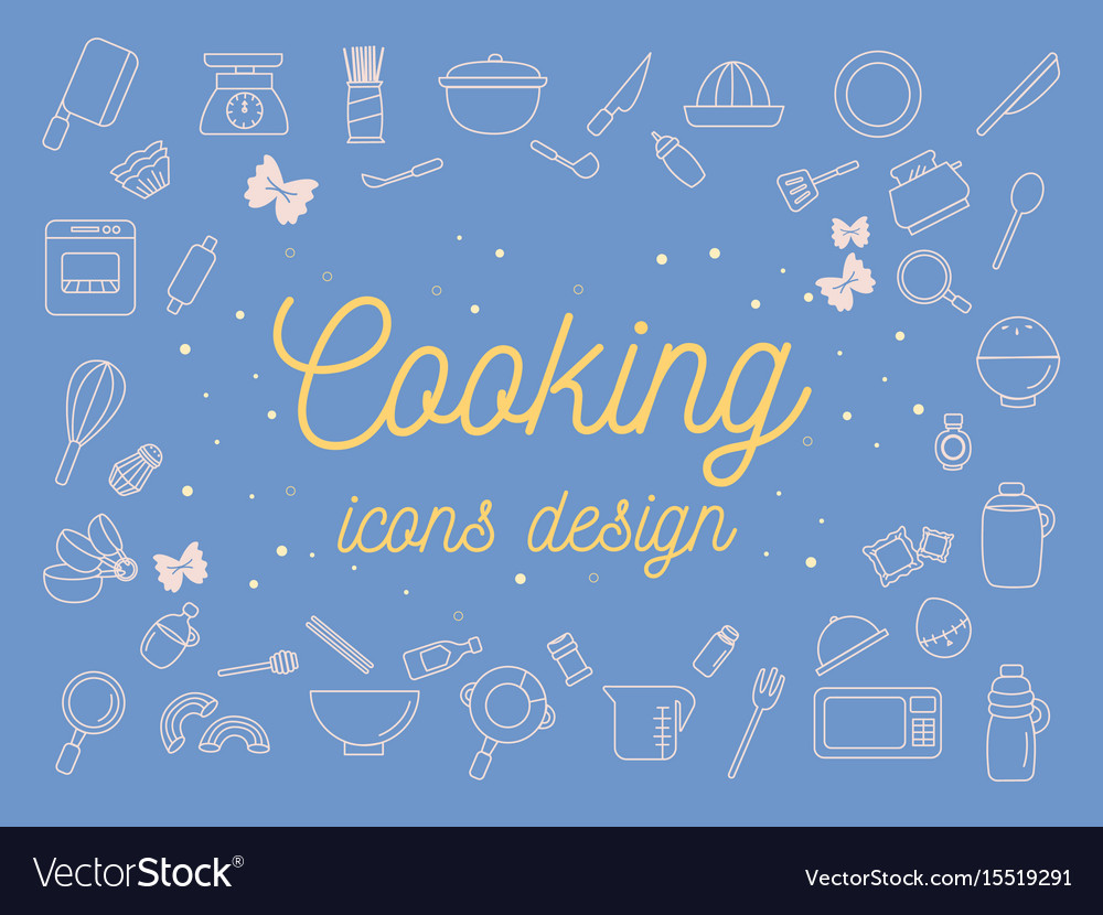 Cooking icons design set