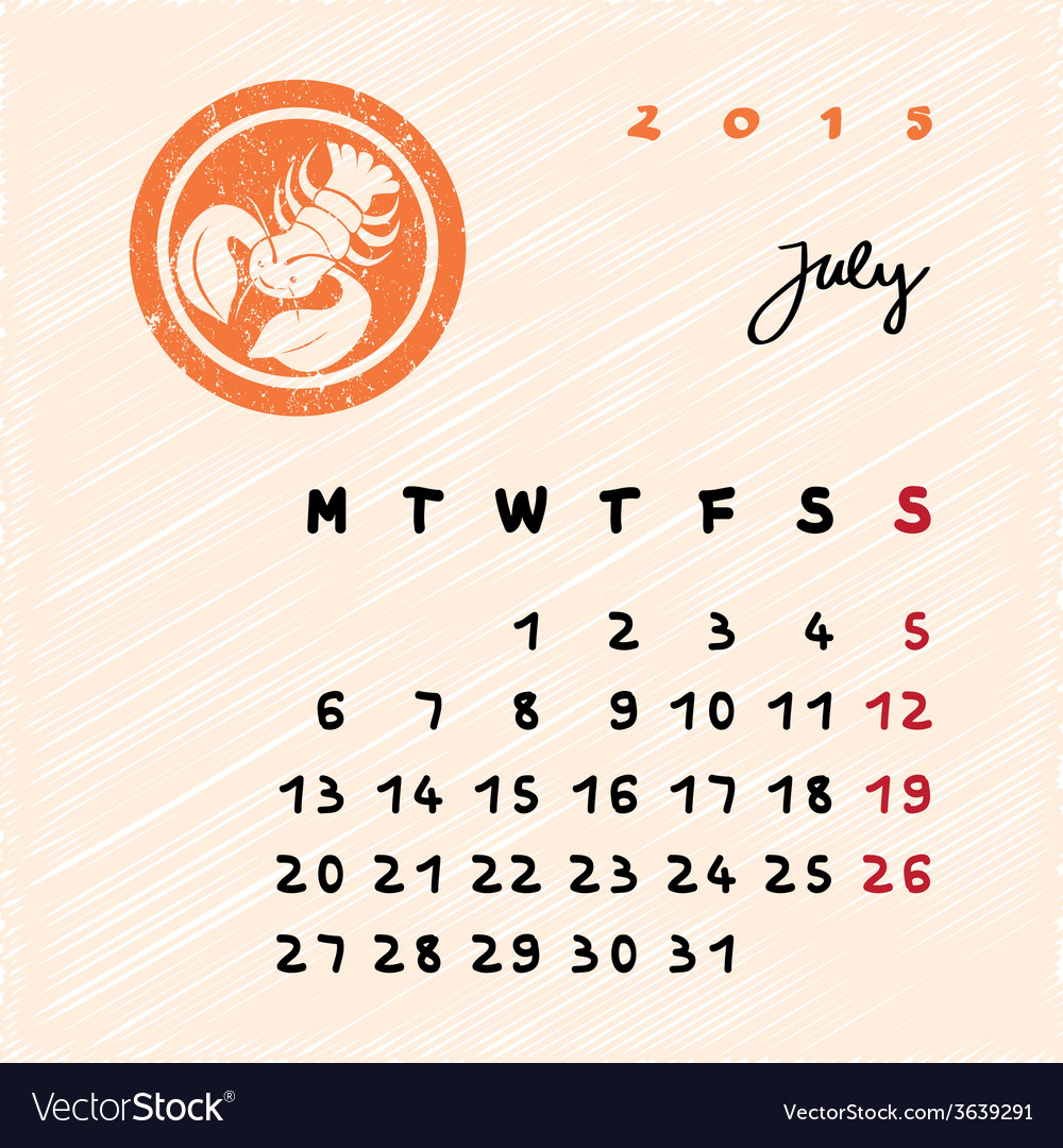 July 2015 zodiac