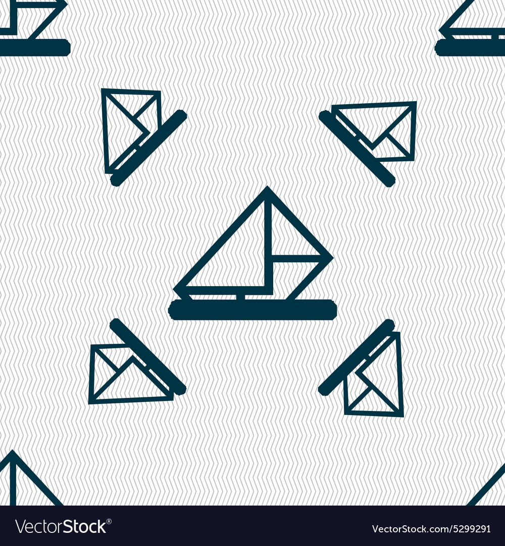 Letter envelope mail icon sign Seamless pattern