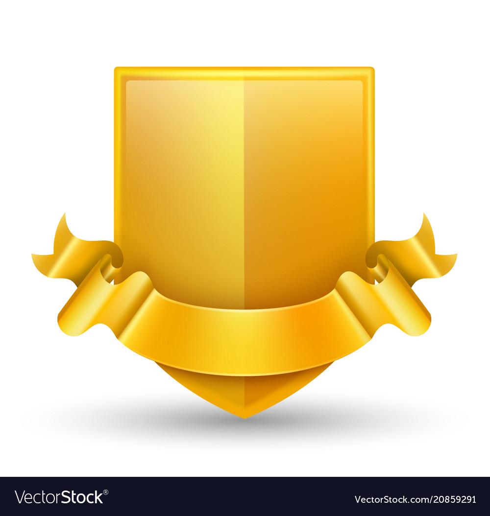 luxury gold badge royalty free vector image - vectorstock  vectorstock