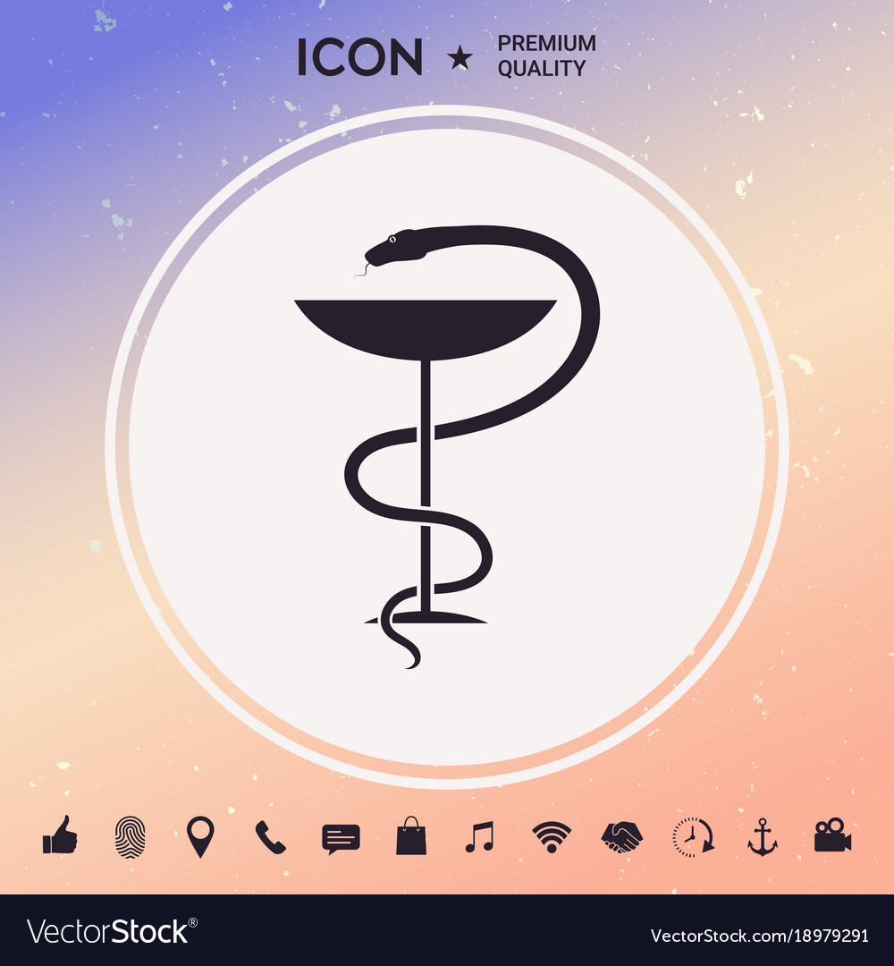 Pharmacy symbol medical snake and cup
