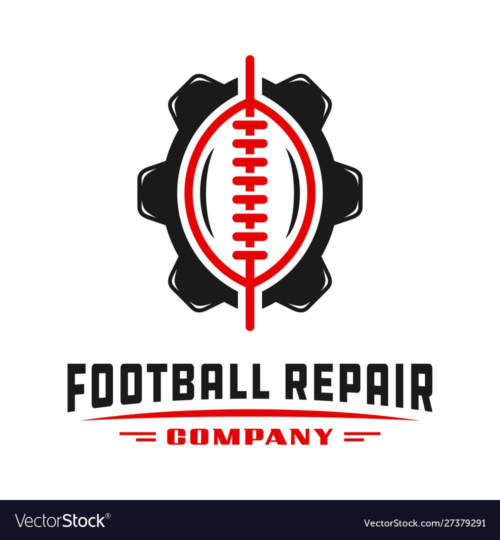 Sports football gear logo design