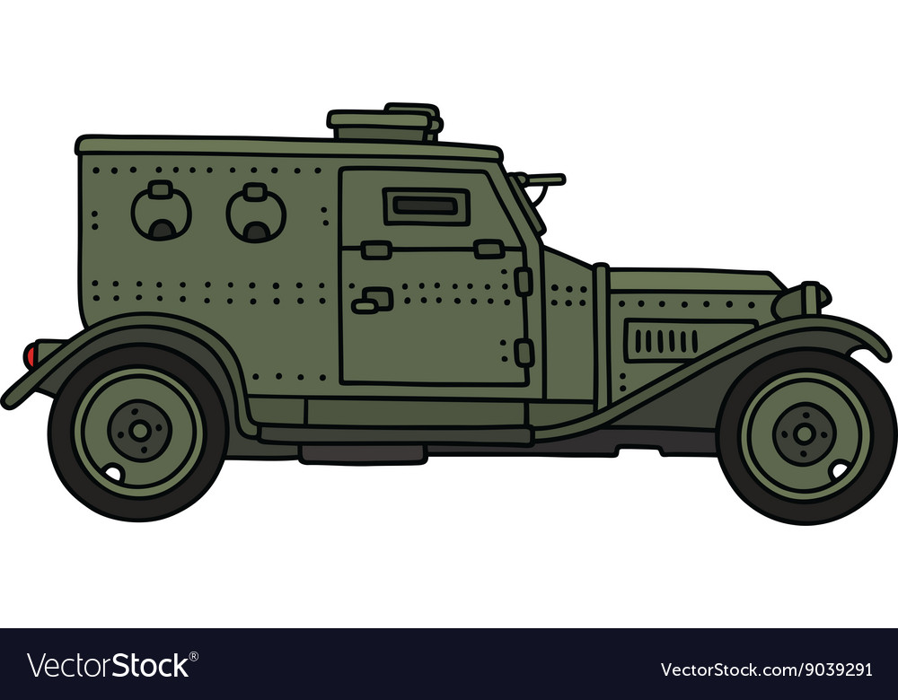 Vintage armoured vehicle vector image