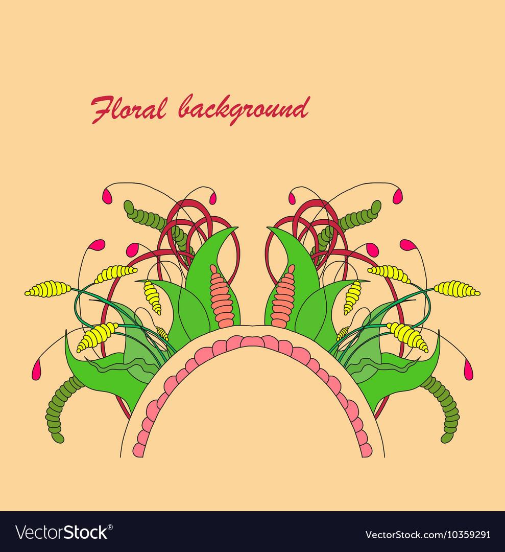 Zentangle floral element