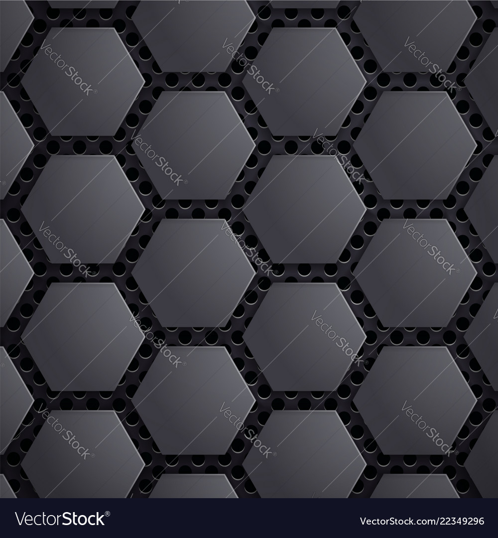 Abstract geometric metallic background carbon