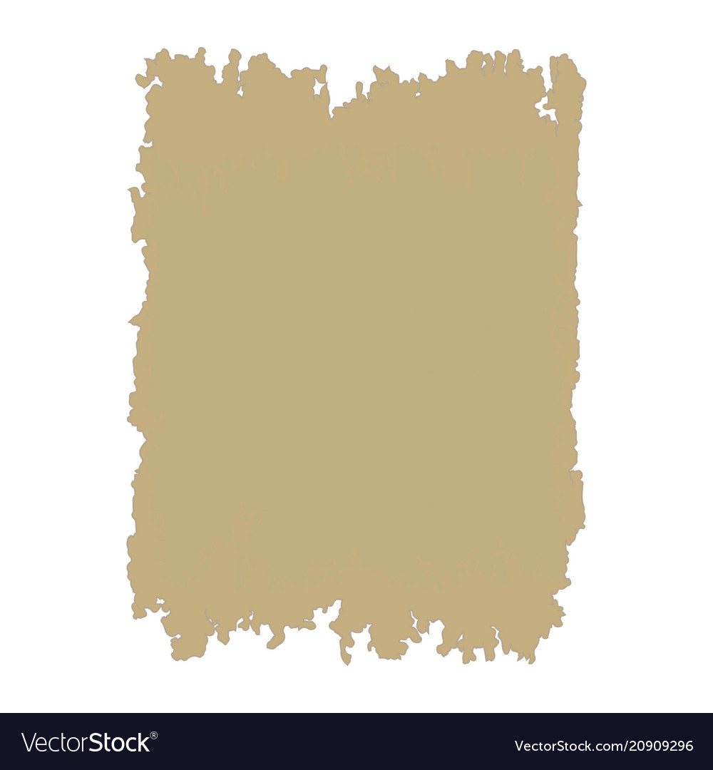 Ancient sheet of papyrus with space for text vector image