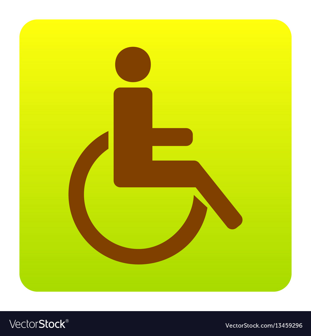 Disabled sign brown icon at